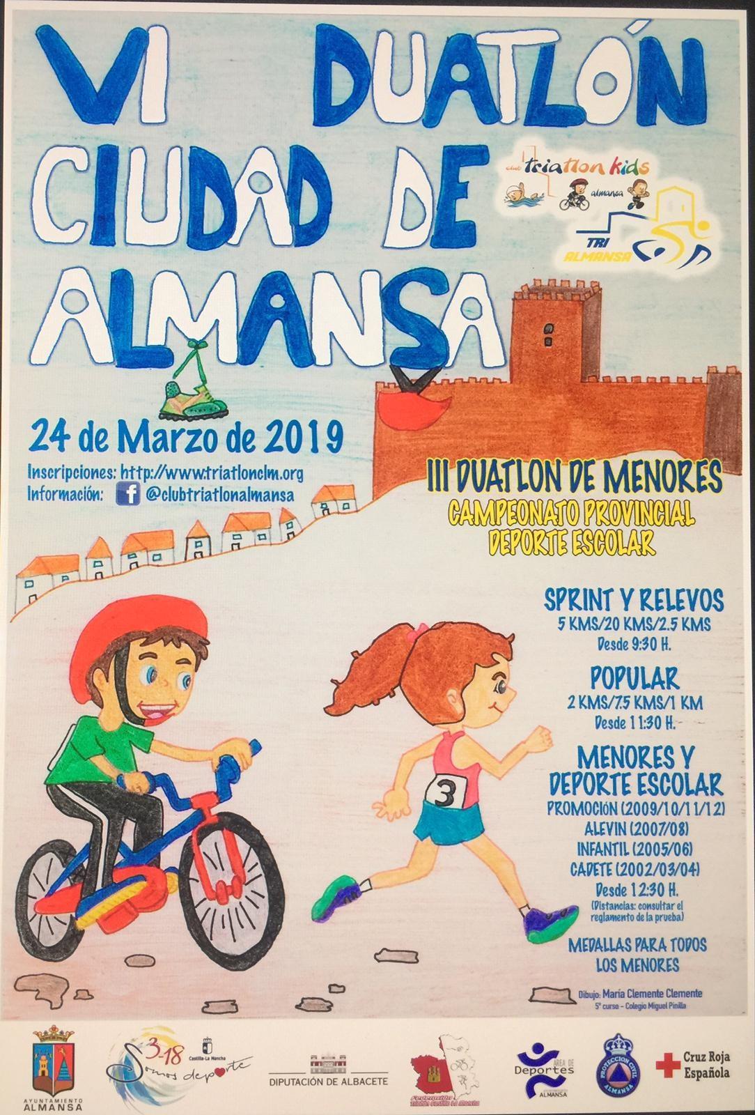 Duatlón de Almansa y Deporte Escolar-Listados de salida